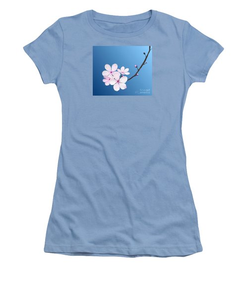 Women's T-Shirt (Junior Cut) featuring the painting Cherry Blossoms by Rand Herron