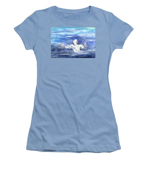 David Bowie In Ashes To Ashes Women's T-Shirt (Junior Cut) by Miki De Goodaboom