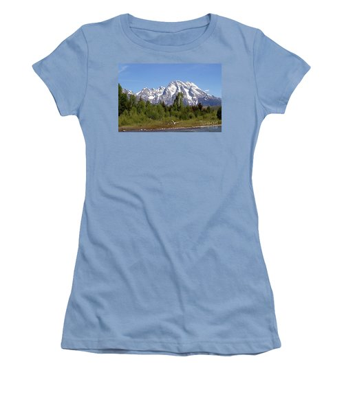Driftwood And The Grand Tetons Women's T-Shirt (Junior Cut) by Living Color Photography Lorraine Lynch