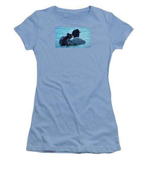 Duck Family Joy In The Lake  Women's T-Shirt (Junior Cut) by Colette V Hera  Guggenheim