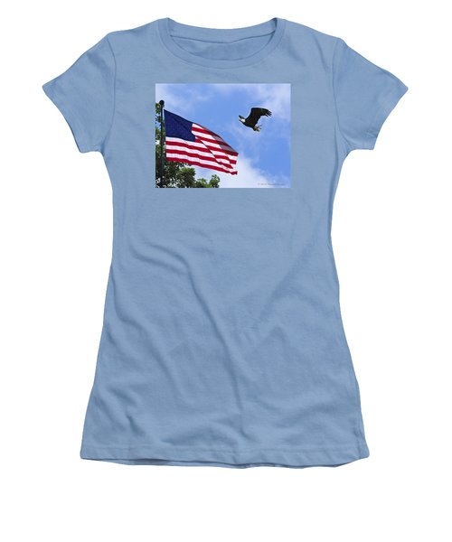 Women's T-Shirt (Junior Cut) featuring the photograph Freedom Feeds The Family by Randall Branham