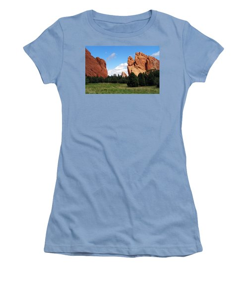 Women's T-Shirt (Junior Cut) featuring the photograph Garden Of The Gods by David Pantuso