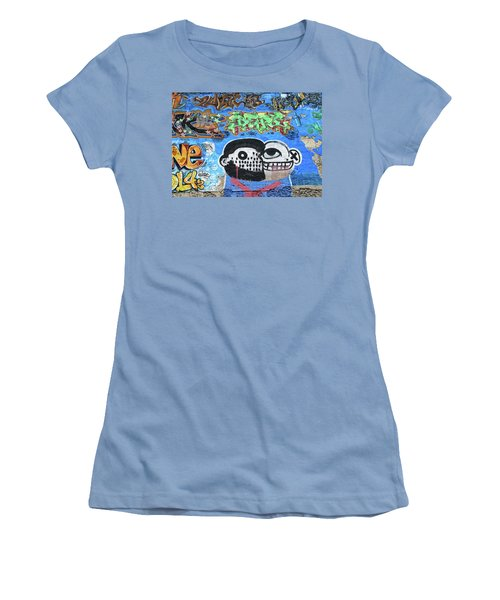 Women's T-Shirt (Junior Cut) featuring the photograph Graffiti Provence France by Dave Mills