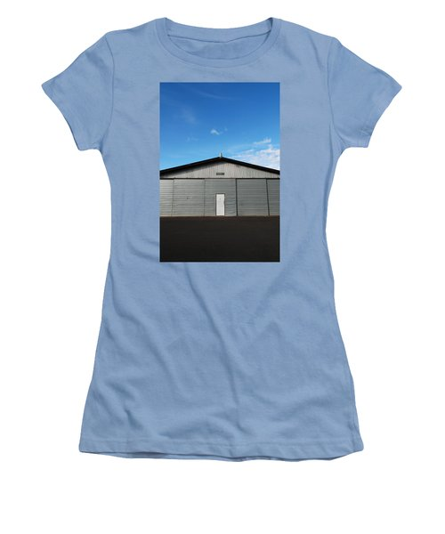 Women's T-Shirt (Junior Cut) featuring the photograph Hangar 2 by Kathleen Grace