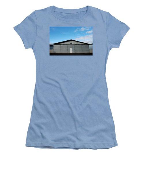 Women's T-Shirt (Junior Cut) featuring the photograph Hangar 2 The Building by Kathleen Grace