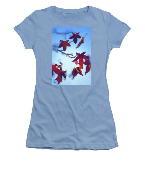 Women's T-Shirt (Junior Cut) featuring the digital art Here Today by Holly Ethan