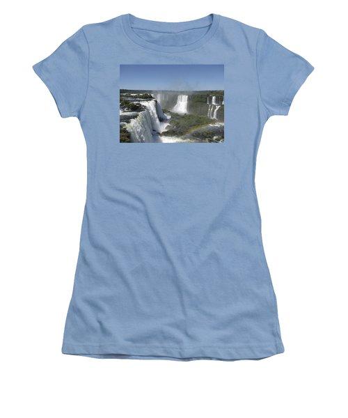Women's T-Shirt (Junior Cut) featuring the photograph Iguazu Falls by David Gleeson