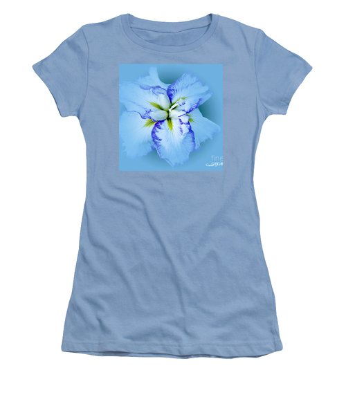 Iris In Blue Women's T-Shirt (Athletic Fit)