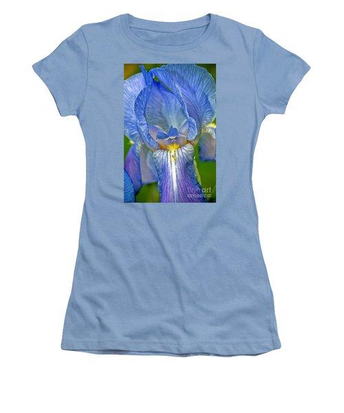 Women's T-Shirt (Junior Cut) featuring the photograph Iris by Larry Carr