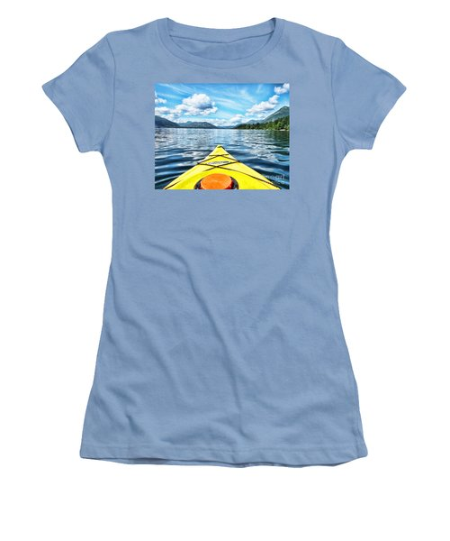 Kayaking In Bc Women's T-Shirt (Athletic Fit)