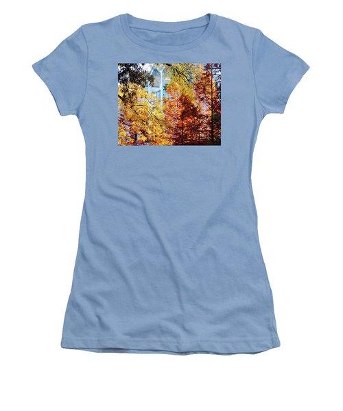Women's T-Shirt (Junior Cut) featuring the photograph Memphis College Of Art Overton Park Memphis Tn by Lizi Beard-Ward