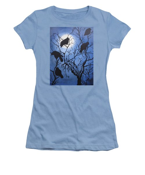 Moonlit Roost Women's T-Shirt (Athletic Fit)