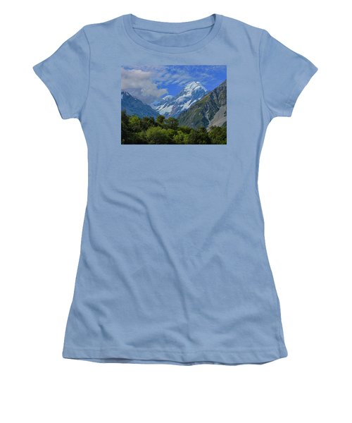 Women's T-Shirt (Junior Cut) featuring the photograph Mount Cook by David Gleeson