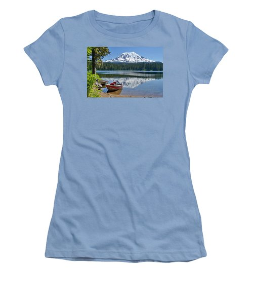 Mt Adams At The Lake Women's T-Shirt (Athletic Fit)