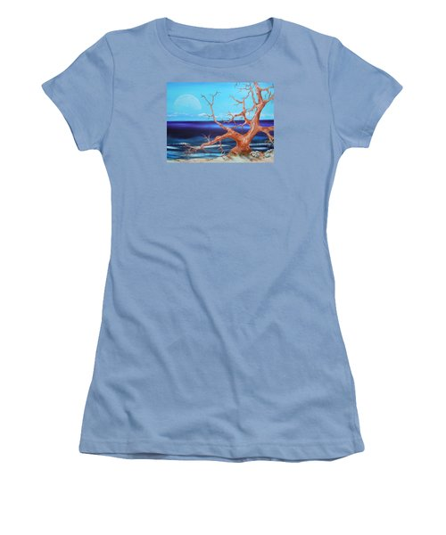 Women's T-Shirt (Junior Cut) featuring the painting Never Alone by Dan Whittemore