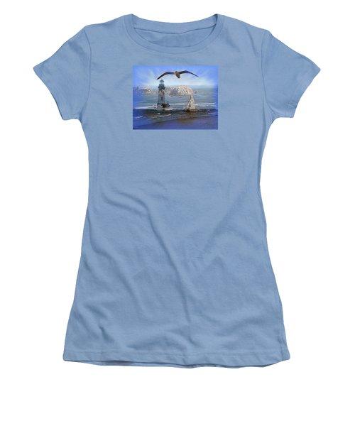 Oregon Coast Composite Women's T-Shirt (Junior Cut) by Nick Kloepping