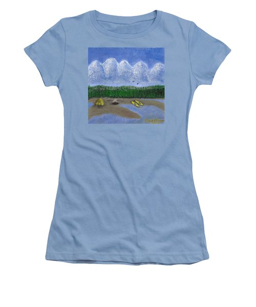 Pacific Northwest Camping Women's T-Shirt (Athletic Fit)