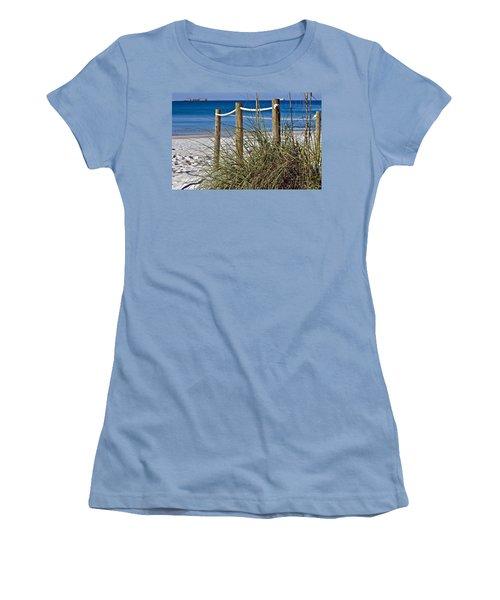 Women's T-Shirt (Junior Cut) featuring the photograph Path To The Beach by Susan Leggett