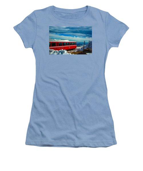 Women's T-Shirt (Junior Cut) featuring the photograph Pikes Peak Railway by Shannon Harrington