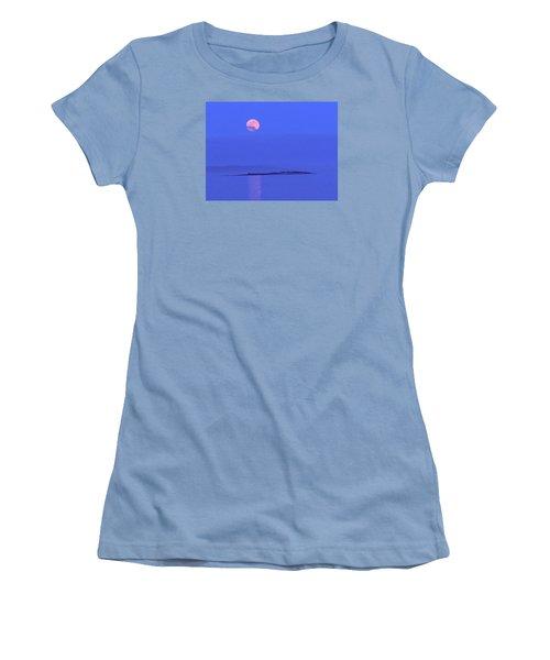 Pink May Moon Women's T-Shirt (Junior Cut)
