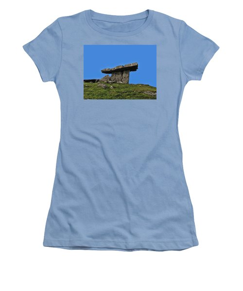 Women's T-Shirt (Junior Cut) featuring the photograph Poulnabrone Dolmen by David Gleeson