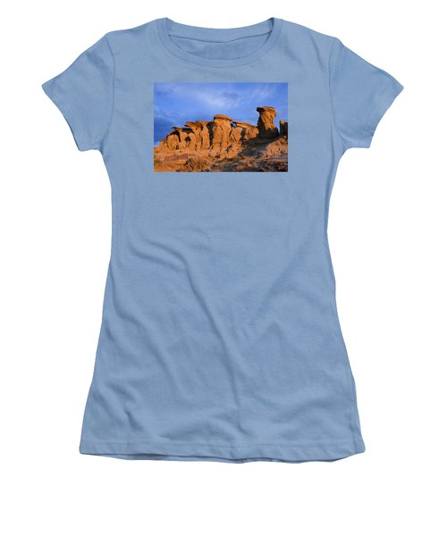 Red Rock Sunset Women's T-Shirt (Junior Cut) by Rich Franco