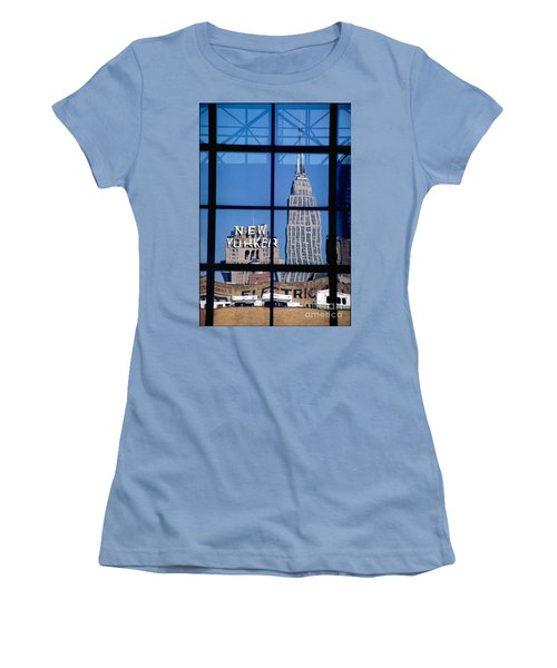 Reflection Empire State Building Women's T-Shirt (Junior Cut) by Mark Gilman