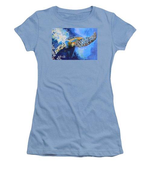 Save The Turtles Women's T-Shirt (Junior Cut) by Warren Thompson