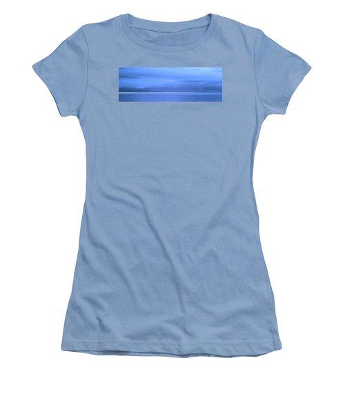 Women's T-Shirt (Junior Cut) featuring the photograph Skyline Salton Sea by Hugh Smith