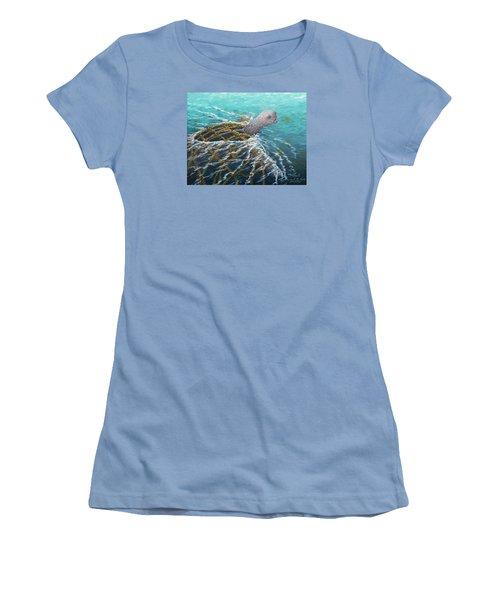 Struggle -leatherback Sea Turtle Women's T-Shirt (Athletic Fit)