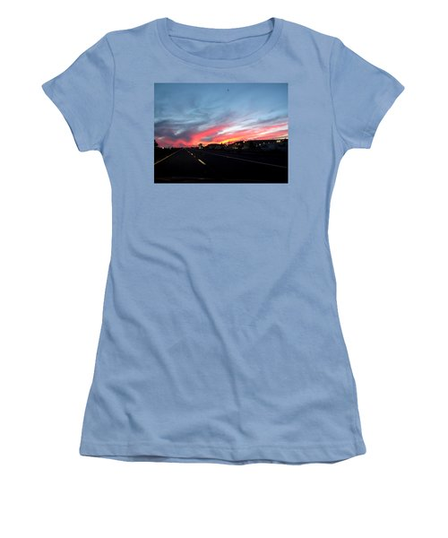 Sunset On Route 66 Women's T-Shirt (Athletic Fit)