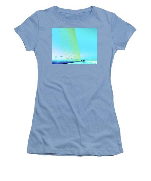 Women's T-Shirt (Junior Cut) featuring the photograph Sunshine  Bridge by Lizi Beard-Ward