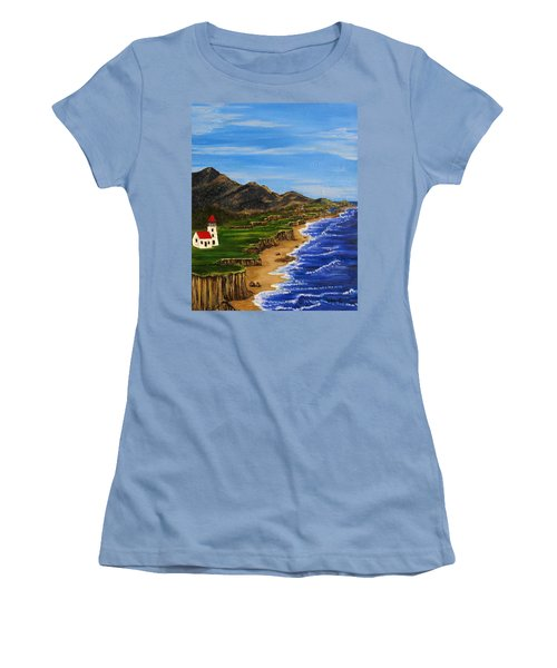 Sylvia's Seascape Women's T-Shirt (Athletic Fit)