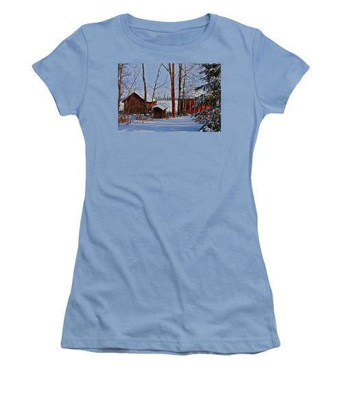 Women's T-Shirt (Junior Cut) featuring the photograph Three Little Houses by Johanna Bruwer