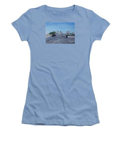 Family Cycling Tour Women's T-Shirt (Junior Cut) by Francine Heykoop