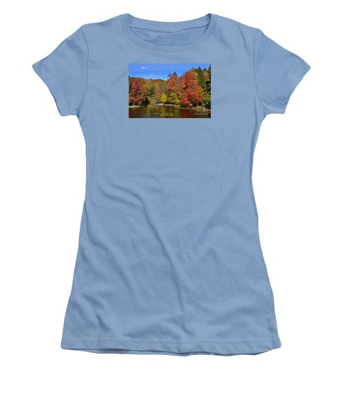 A Little Piece Of Adirondack Heaven Women's T-Shirt (Junior Cut) by Diane E Berry