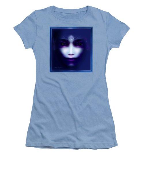 Angel  Blue Women's T-Shirt (Junior Cut) by Hartmut Jager