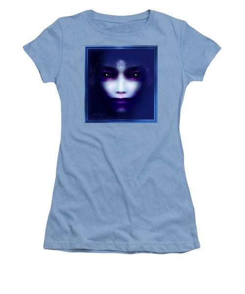 Angel  Blue Women's T-Shirt (Athletic Fit)