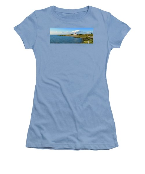 Autumn At East Point Lighthouse Women's T-Shirt (Athletic Fit)