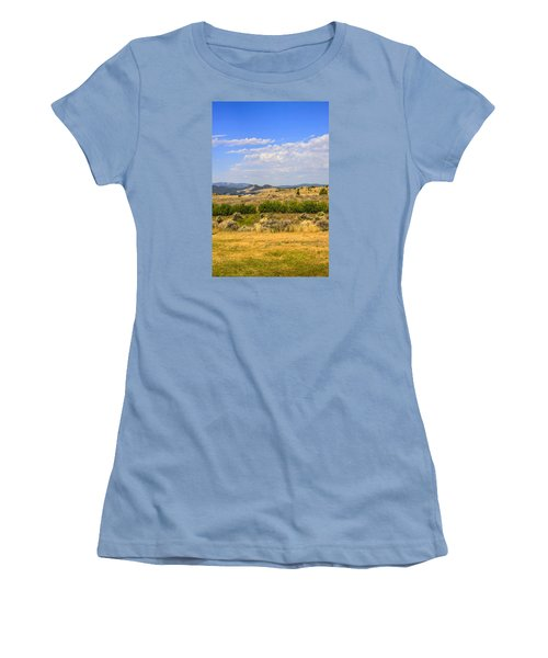 Big Sky Montana Women's T-Shirt (Junior Cut) by Chris Smith