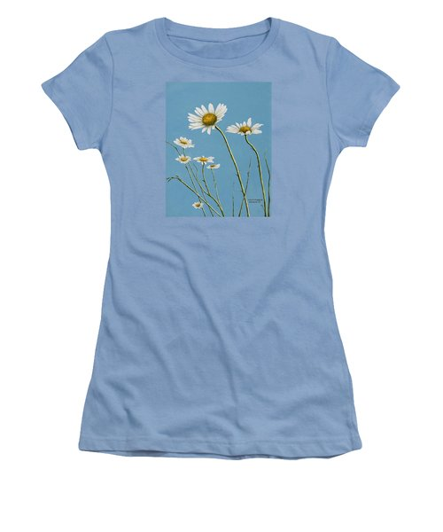 Daisies In The Wind Women's T-Shirt (Athletic Fit)