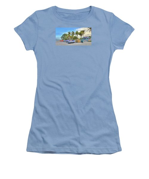 Docs Beach House Women's T-Shirt (Junior Cut) by Sean Allen
