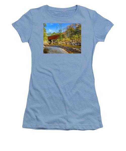 Everett Covered Bridge  Women's T-Shirt (Athletic Fit)