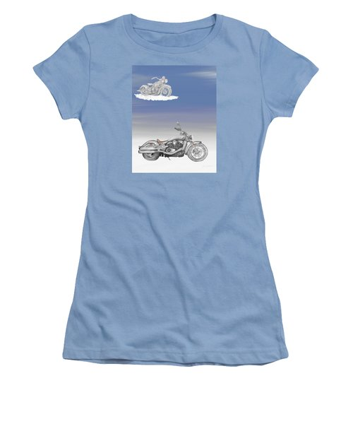 Women's T-Shirt (Junior Cut) featuring the drawing Grandson by Terry Frederick