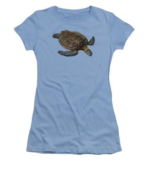 Hawaiian Sea Turtle Women's T-Shirt (Athletic Fit)
