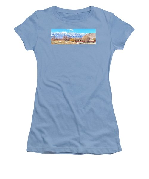 In The Valley Women's T-Shirt (Junior Cut) by Marilyn Diaz
