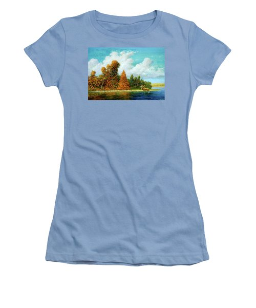 Moose Country Women's T-Shirt (Athletic Fit)