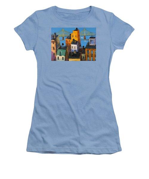 New York Women's T-Shirt (Junior Cut) by Mikhail Zarovny