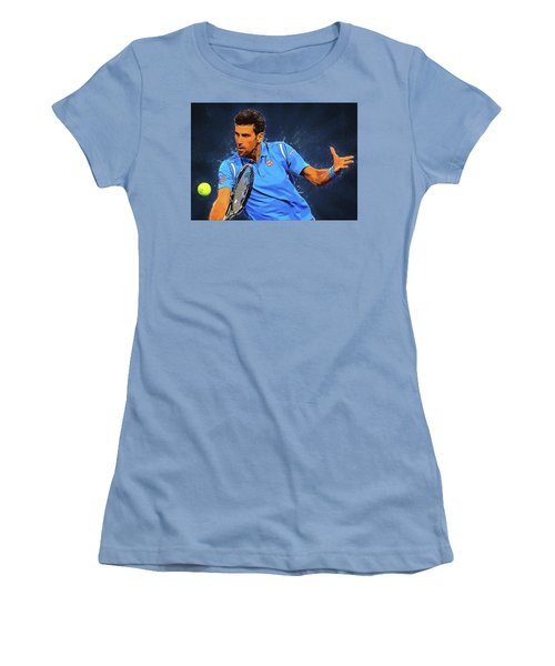 Novak Djokovic Women's T-Shirt (Athletic Fit)