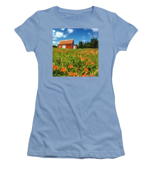 Old Barn In Cape Breton #2 Women's T-Shirt (Athletic Fit)